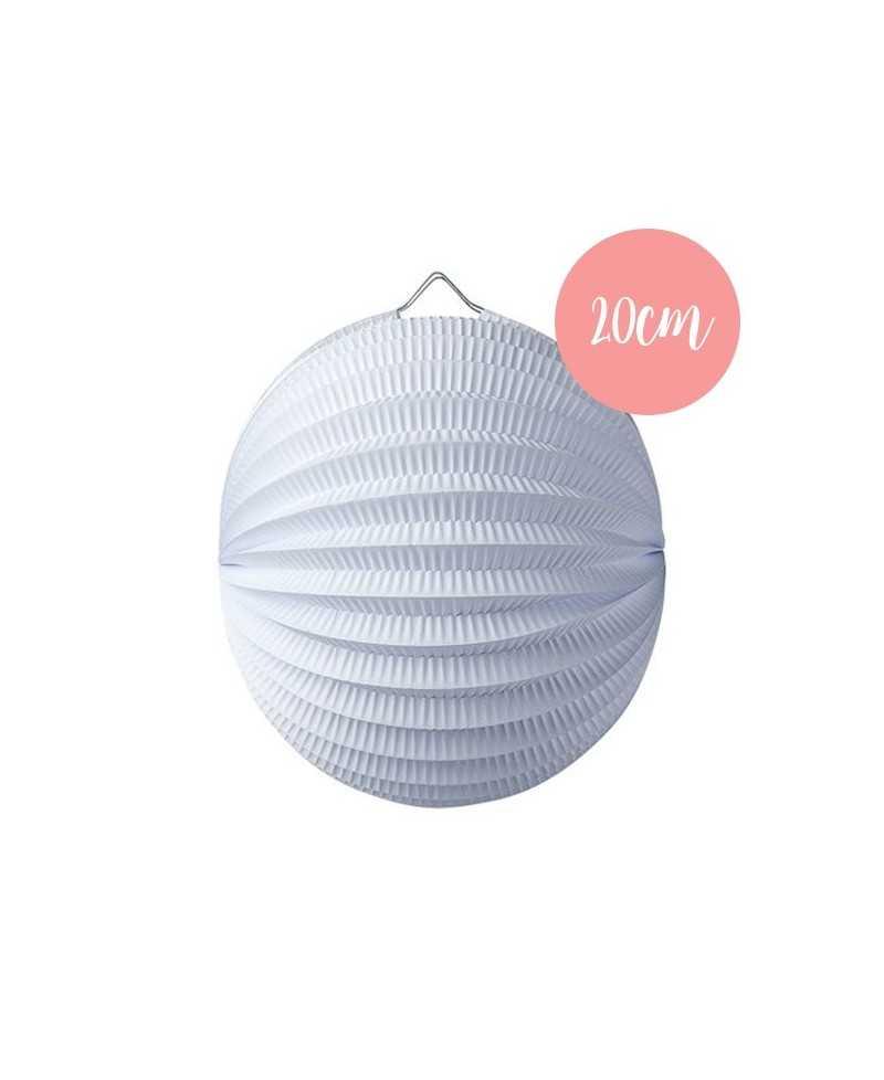 Lanterne accordéon Blanc - 20cm