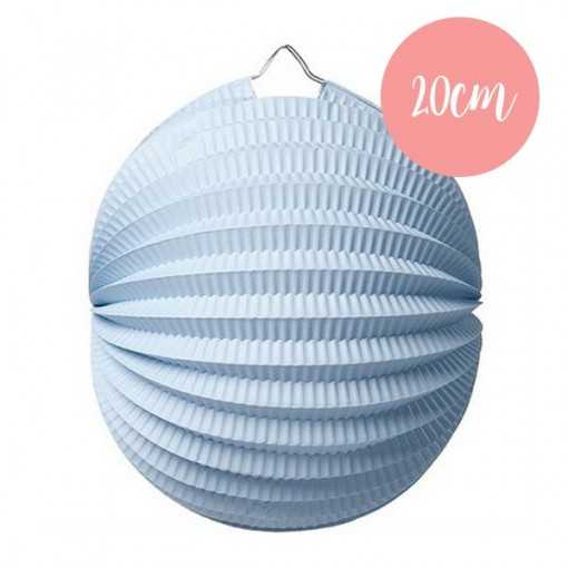 Lanterne accordéon Bleu - 20cm