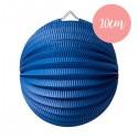 Lanterne accordéon Bleu marine - 20cm
