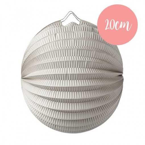 Lanterne accordéon Gris - 20cm