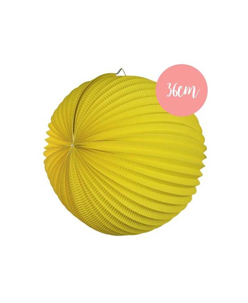 Lampion accordéon Jaune - 36cm
