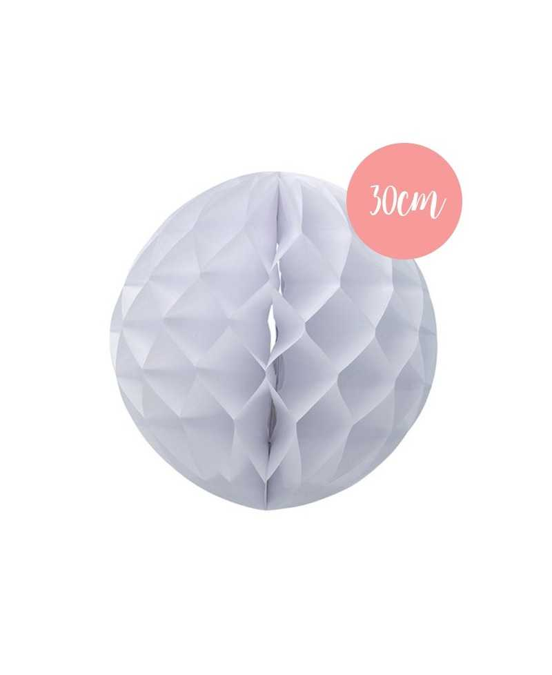 Boule alvéolée Blanche - 30cm
