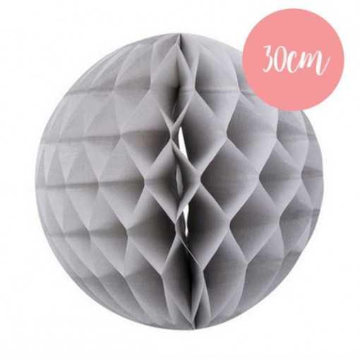 Boule alvéolée Gris Souris - 30cm
