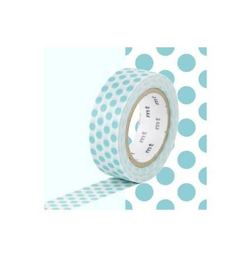 Masking Tape MT Dot Bleu Lagon