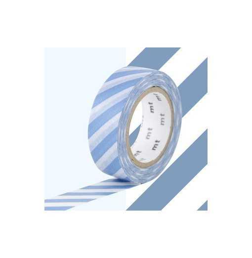 Masking Tape MT Stripe Bleu Gris