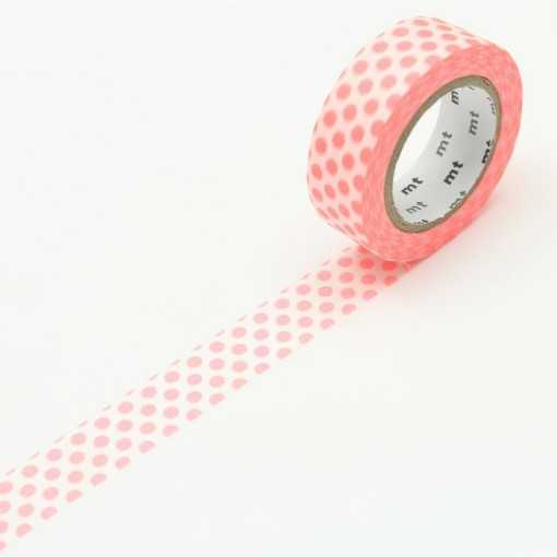 Masking Tape MT Dot Rouge Fluo