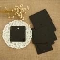 Étiquette carré noir