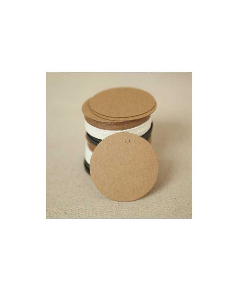 Étiquette kraft ronde 5cm