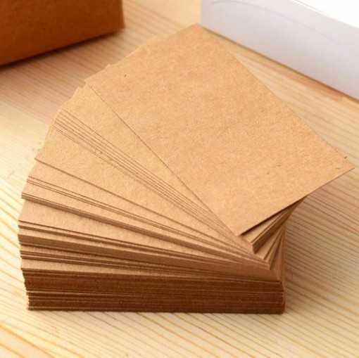 Petites cartes kraft - 5.4cm x 9cm