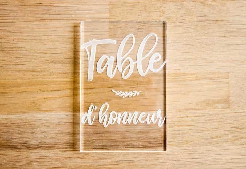 Plaque En Plexi Table D Honneur