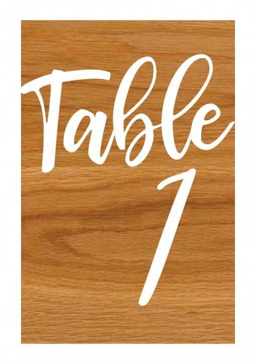 Plaque en bois - Numéros de table