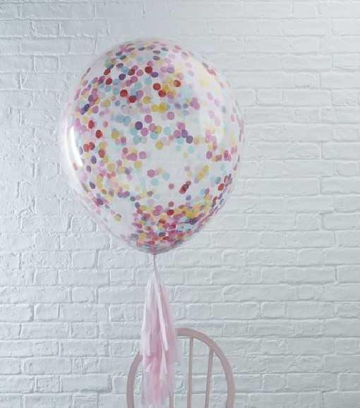 Ballon géant confettis -...
