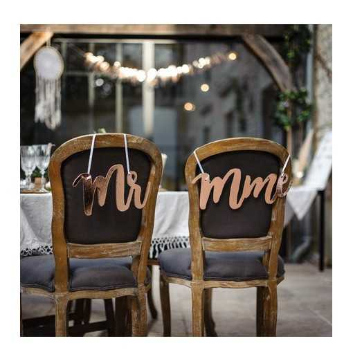 Dos de chaises Mr & Mme Rose Gold