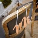 Dos de chaises Mr & Mme Rose Gold