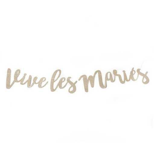 """Guirlande paillettes """"Vive les Mariés"""""""