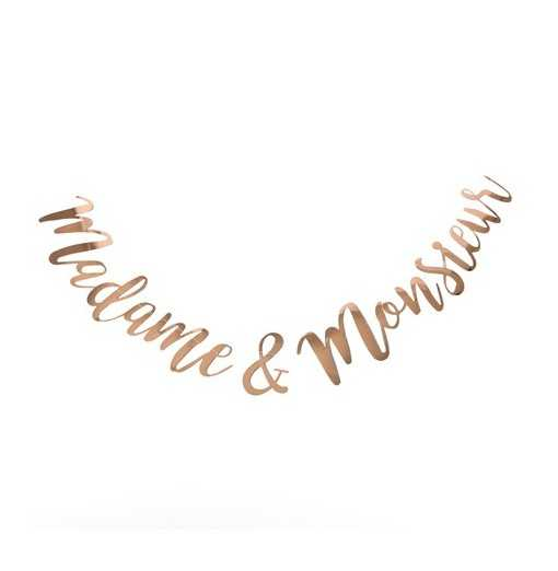 "Guirlande Rose Gold ""Madame & Monsieur"""