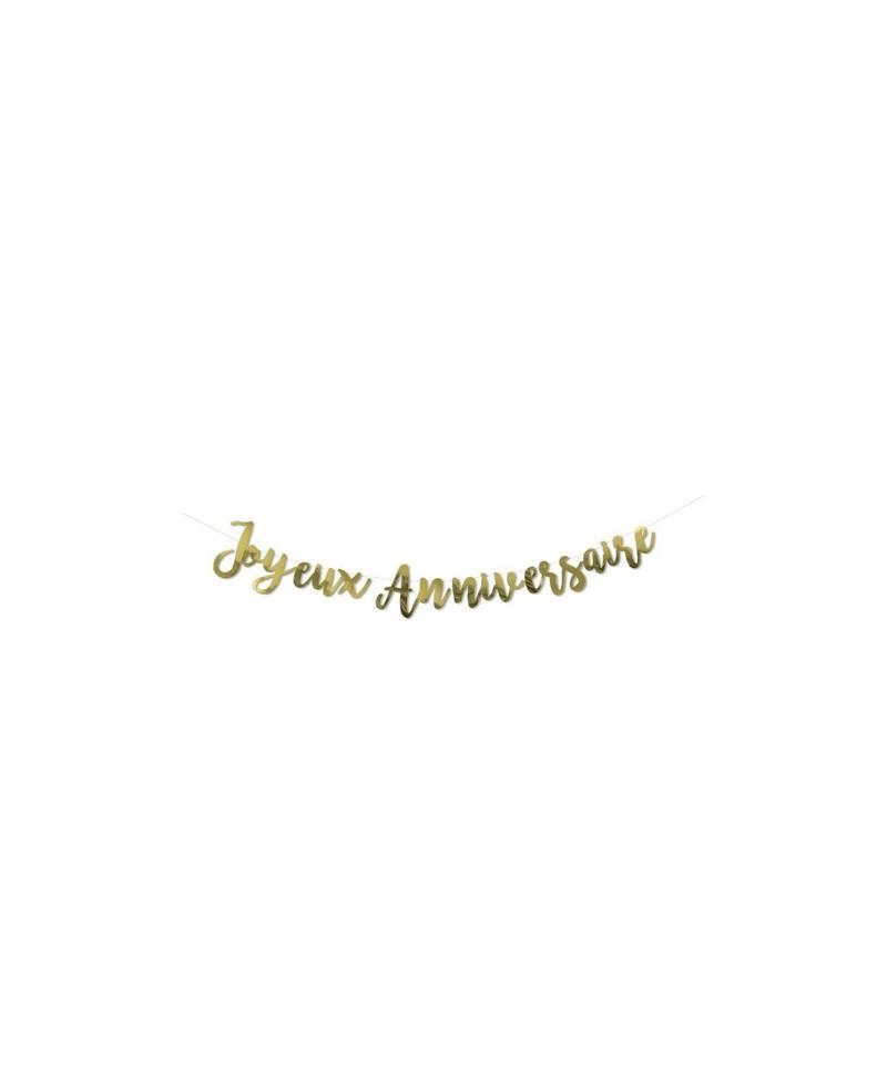 Guirlande Or - Joyeux Anniversaire