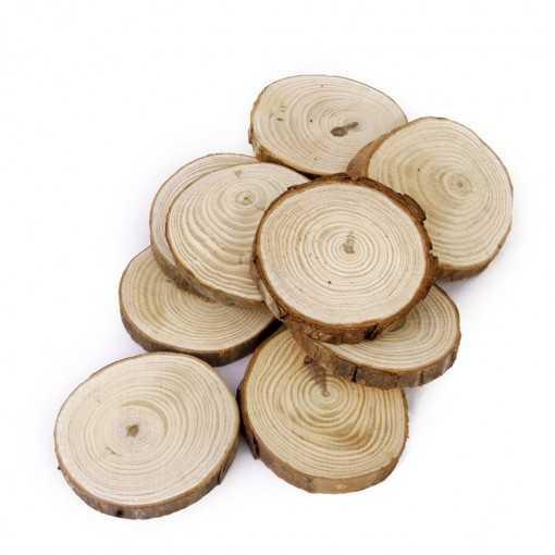 Ronds de bois plats - de 3 à 5cm