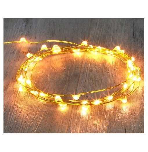 Guirlande cuivre 40 LED -...