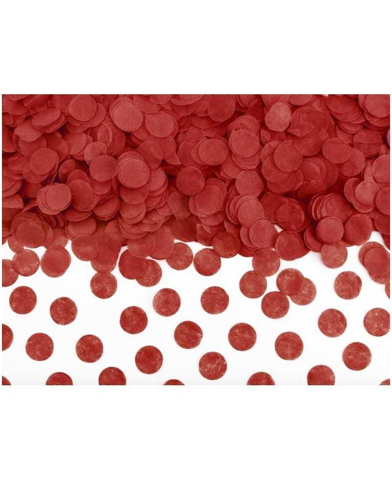 Minis confettis papier de soie - Rouge