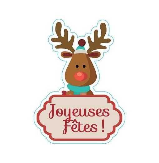 """Sticker rennes """"Joyeuses..."""