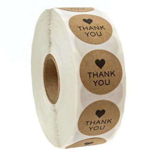 "Mini sticker ""Thank you"""