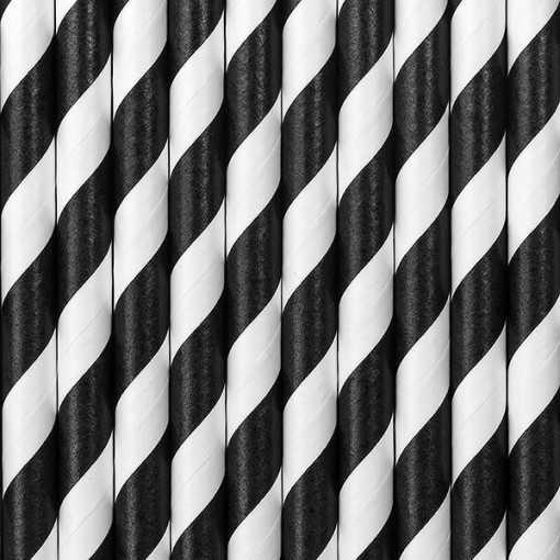 Paille en papier - Noir
