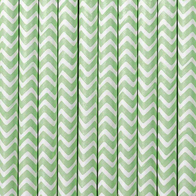 Paille en papier Vert pomme