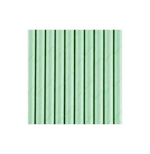 Paille en papier unie - Vert