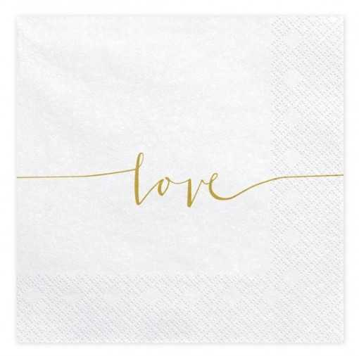 "Serviette en papier ""Love"""