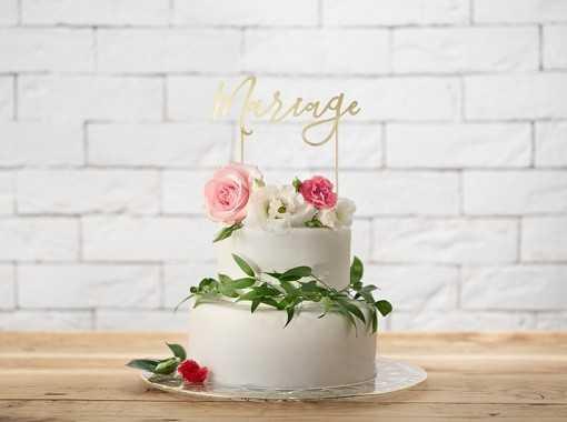 "Pic à gâteau ""Mariage"" Or"