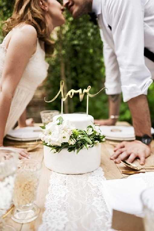 """Pic à gâteau """"Love"""" Or"""