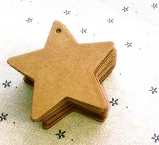 Etiquette kraft étoile