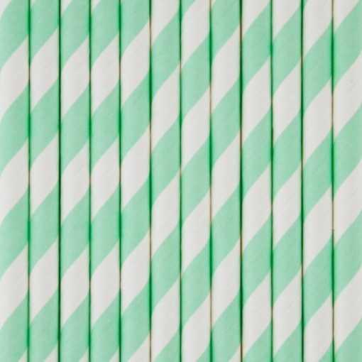 Paille en papier - Vert menthe