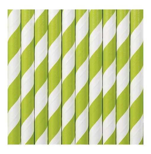 Paille en papier - Vert pomme