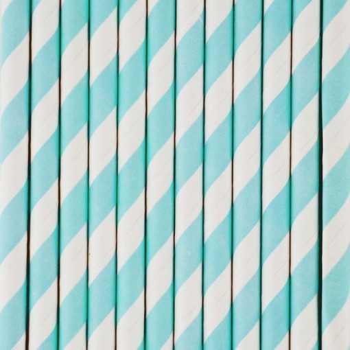 Paille en papier - Bleu ciel