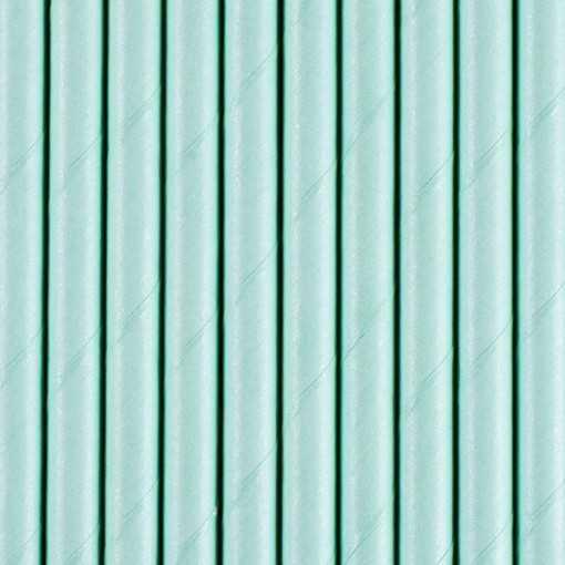 Paille en papier unie - Bleu