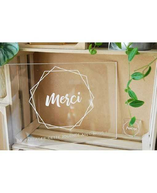 "Plaque ""Merci"" - Collection..."