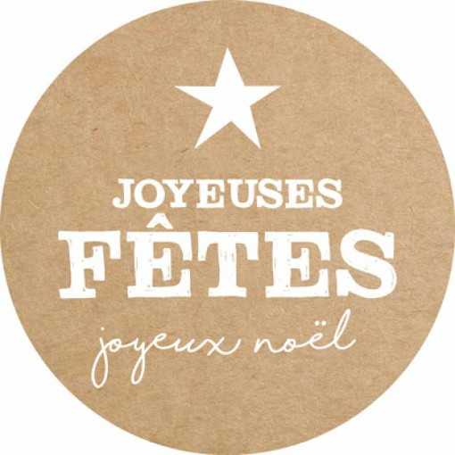 Sticker Joyeuses Fêtes
