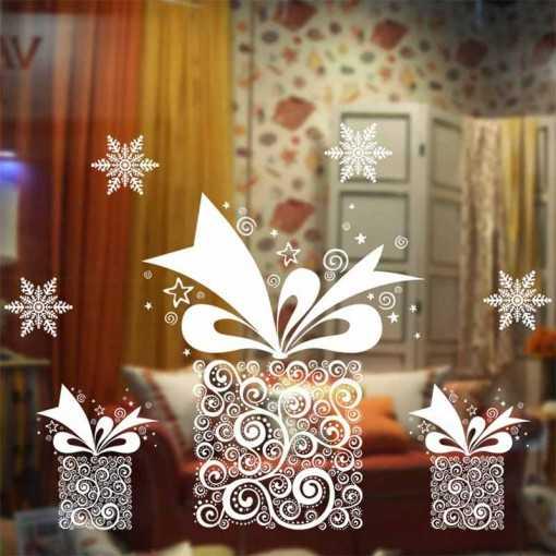 Sticker fenêtre Noël cadeaux