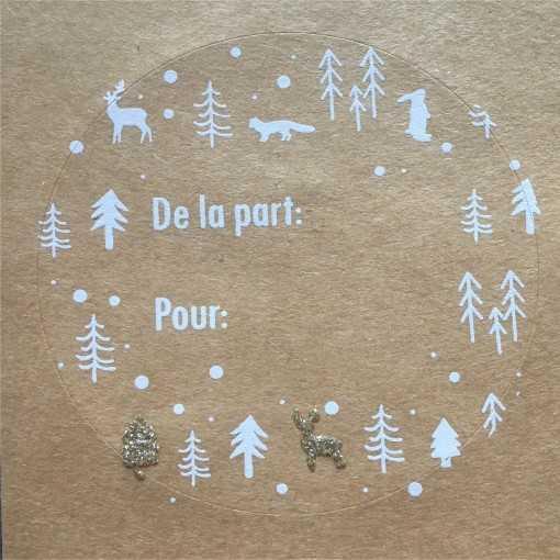 Stickers Noël Kraft