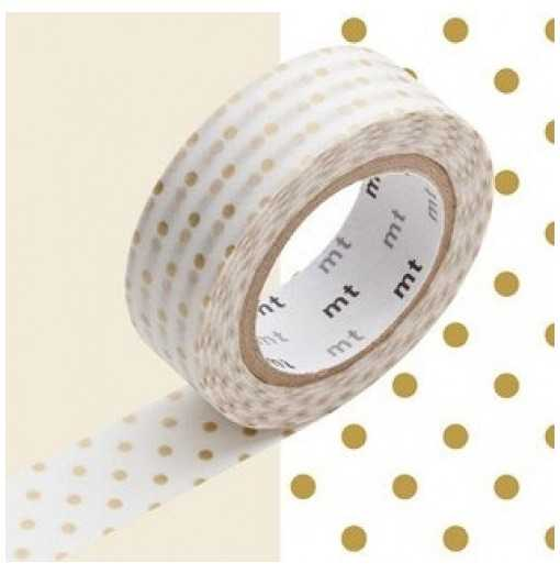 Masking Tape MT Dot S Gold