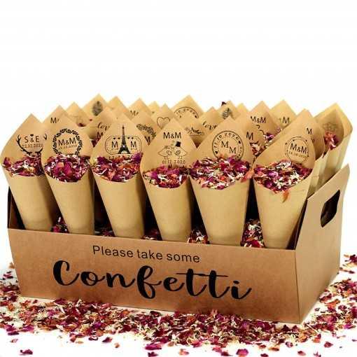 Cornet à confettis kraft