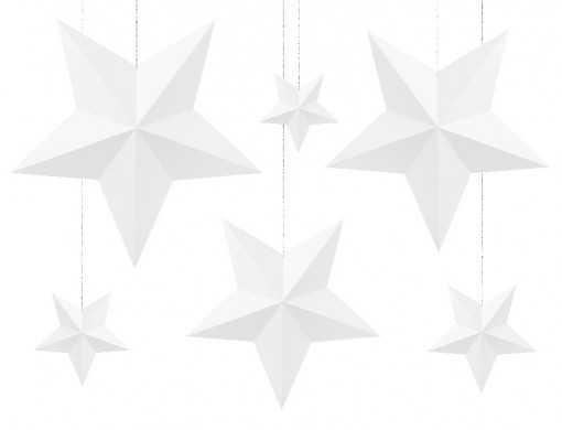 6 suspensions d'étoiles...