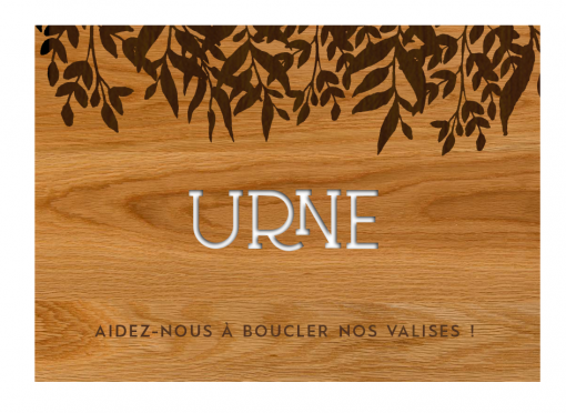 """Plaque en bois """"Urne"""" -..."""