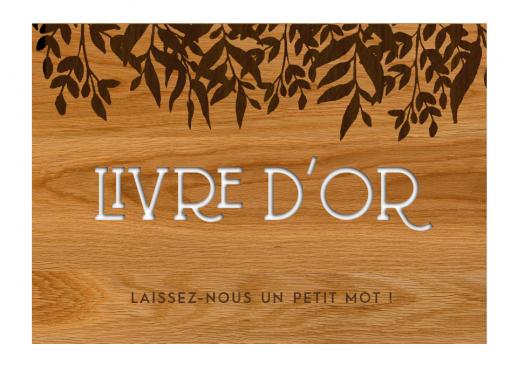 """Plaque en bois """"Livre d'Or""""..."""