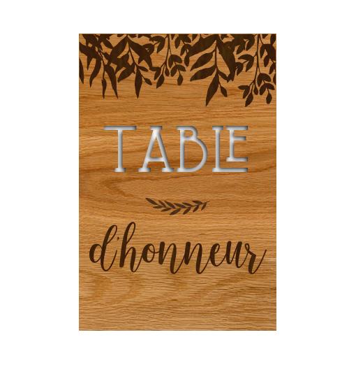 Plaque Table des Enfants -...