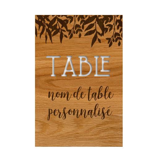 Numéros de table...