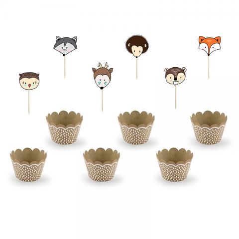 Kit Cupcake Forêt