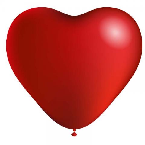 Ballon Cœur rouge - 25 cm